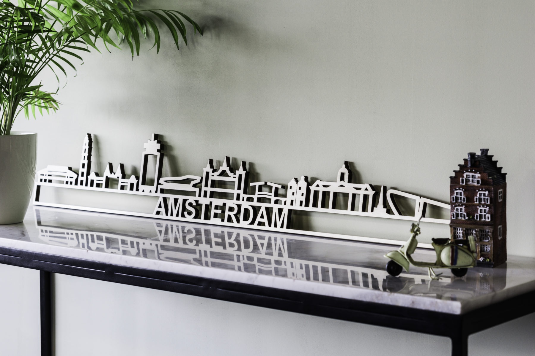 Amsterdam skyline hout