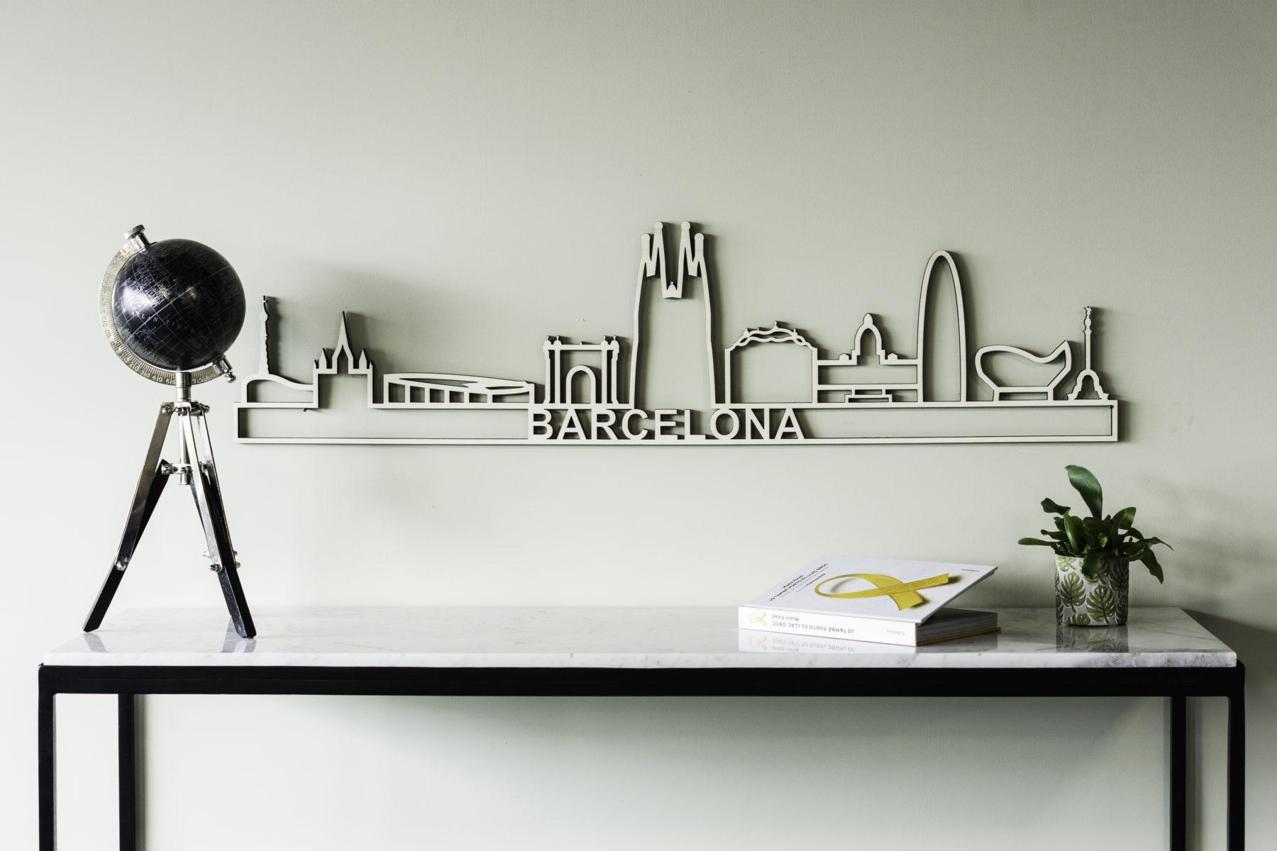Houten skyline Barcelona