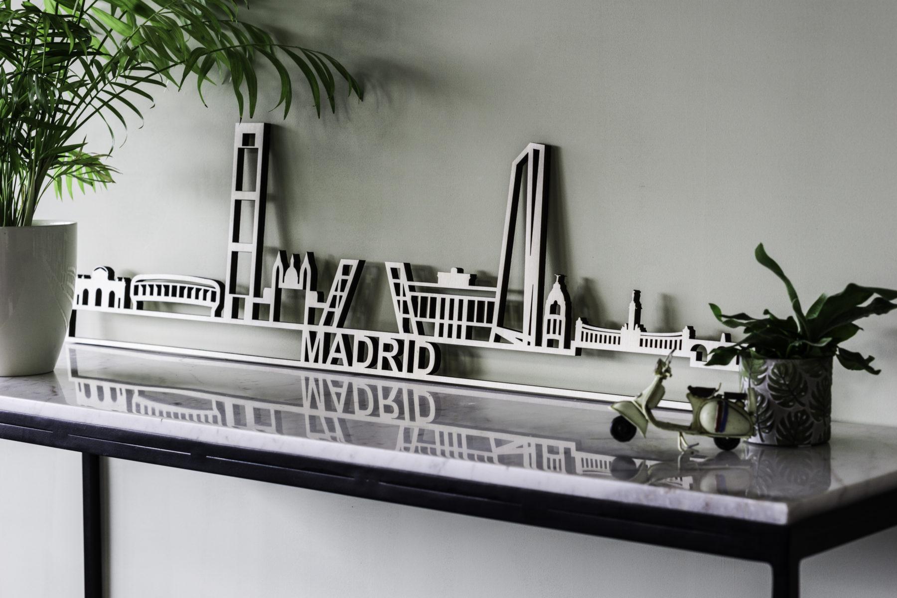 Skyline Madrid hout