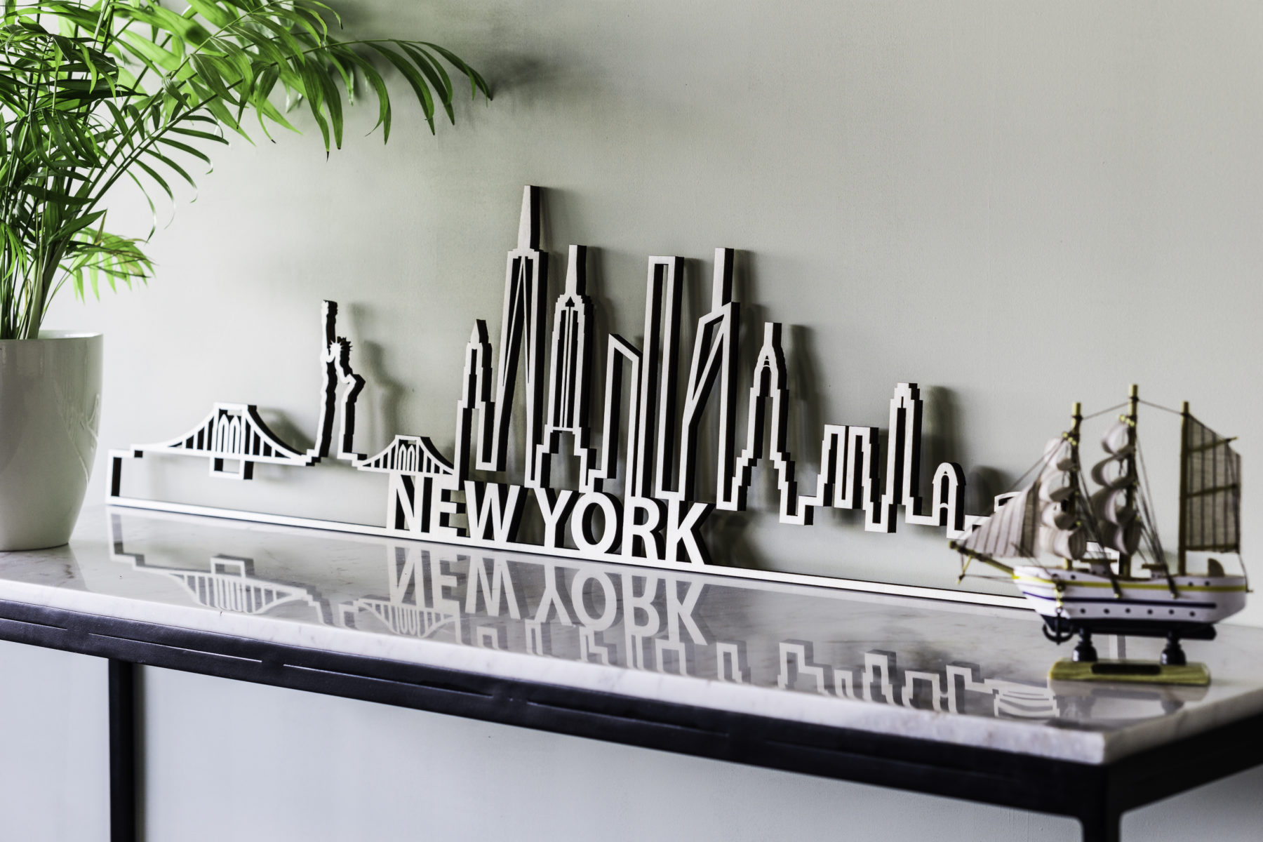 Houten skyline New York