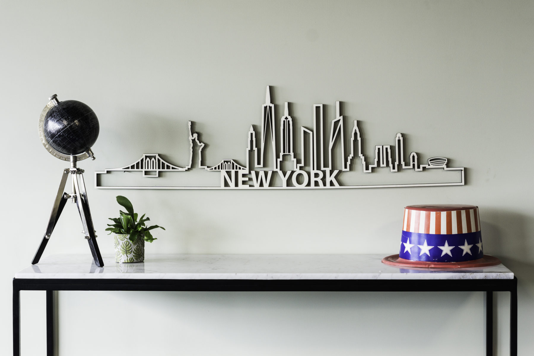 Skyline New York hout