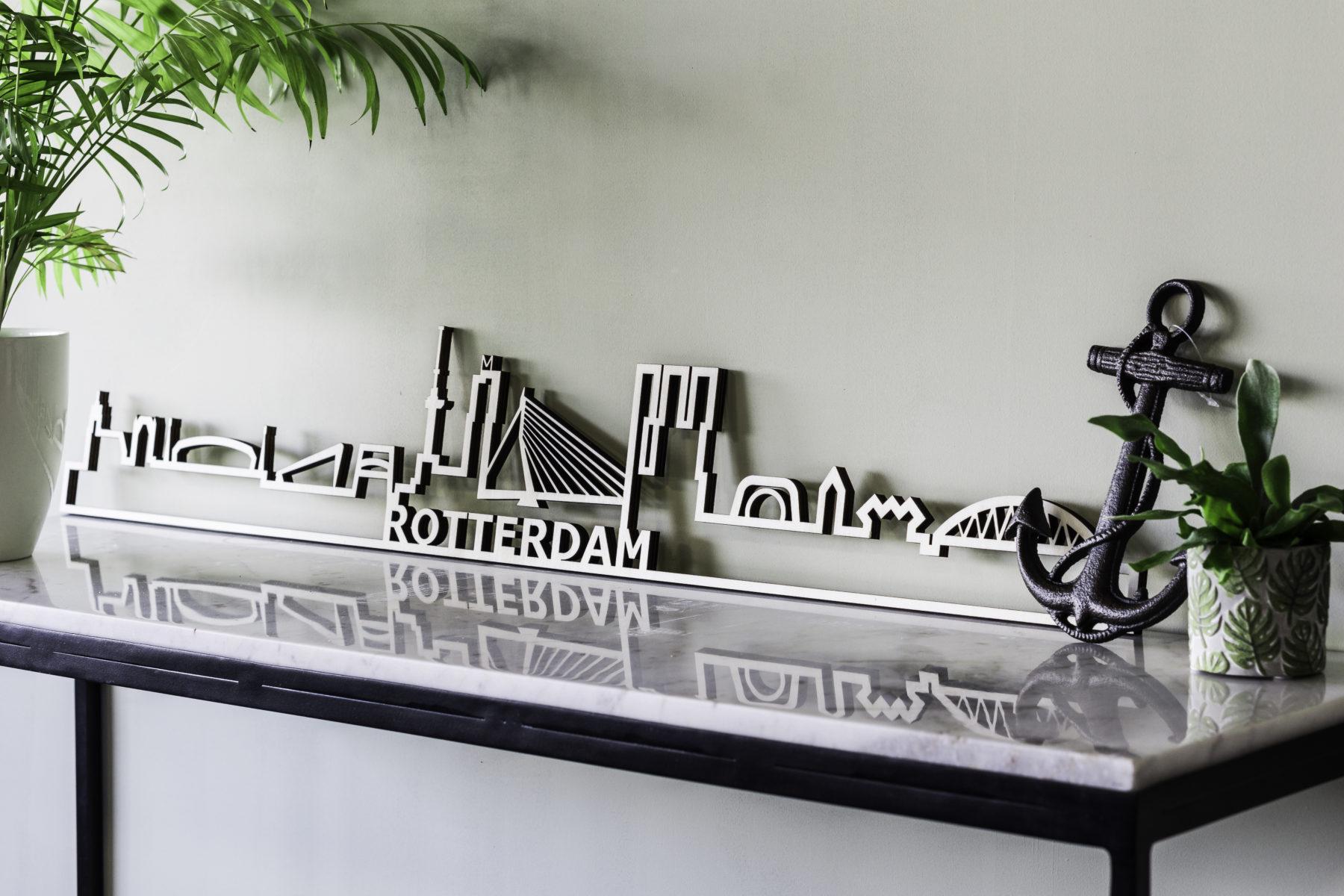 Rotterdam skyline populier hout