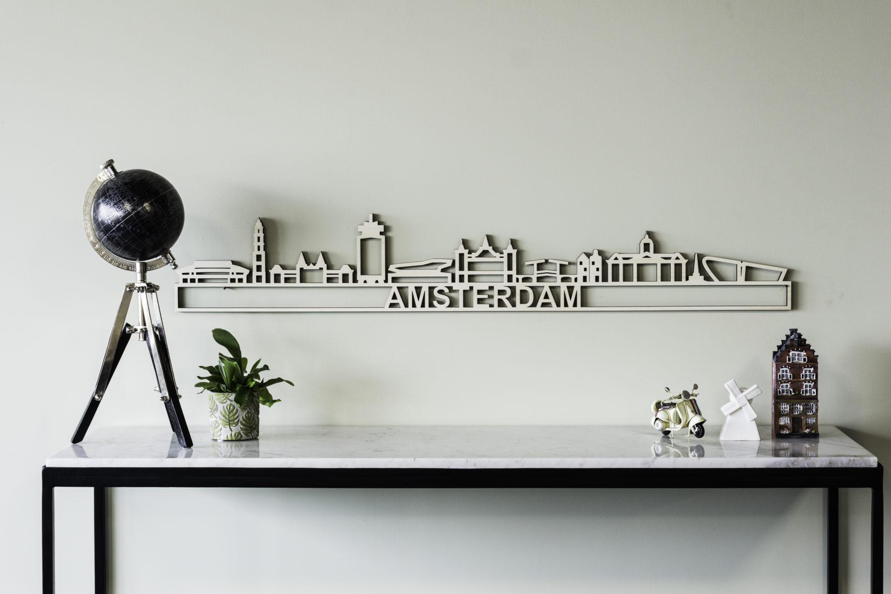 Houten skyline Amsterdam