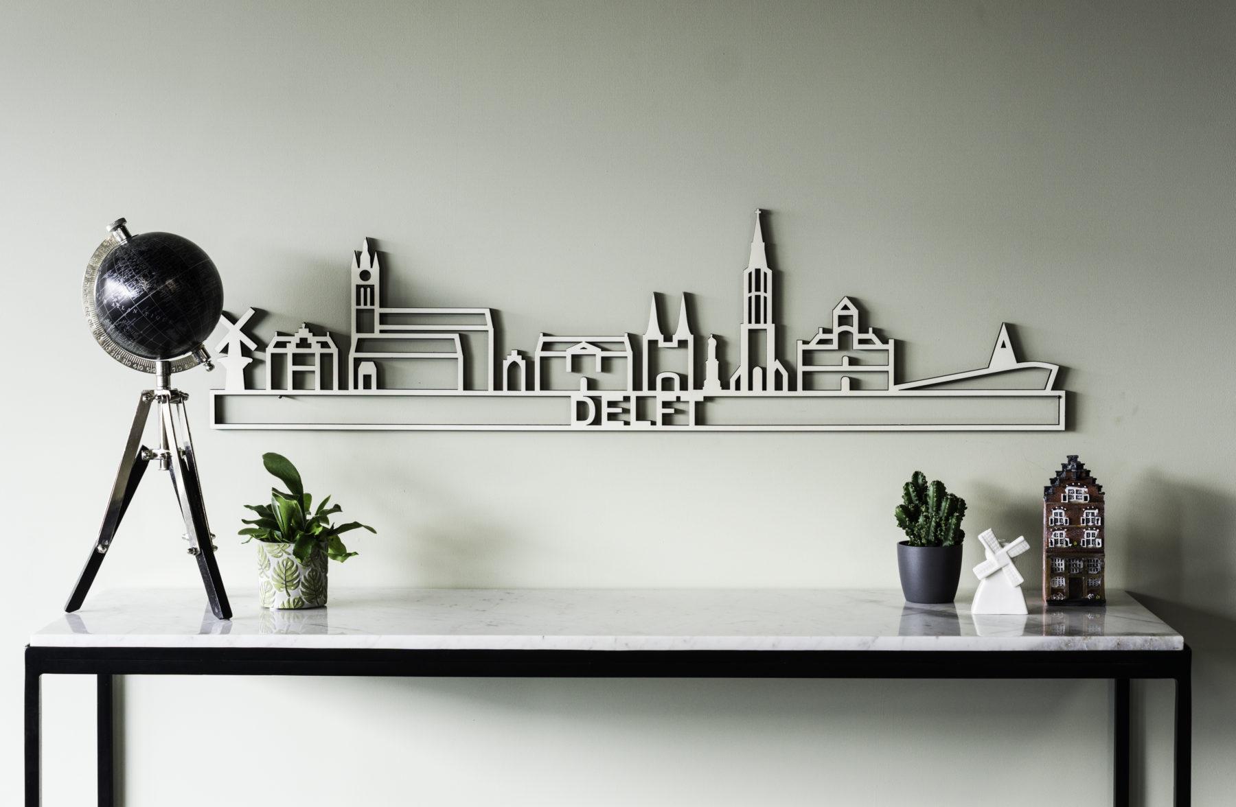 populieren houten skyline Delft