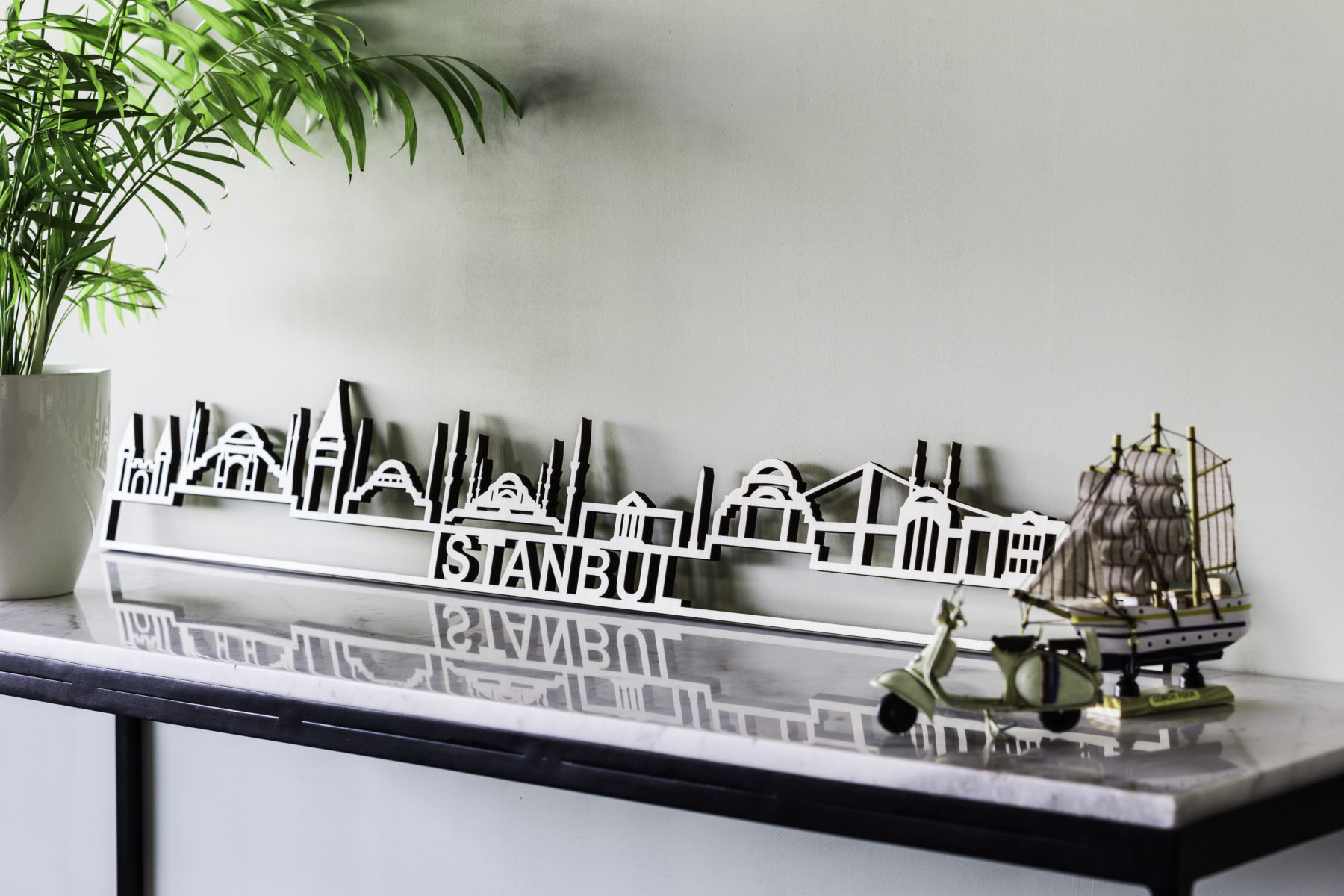 Skyline Istanbul hout