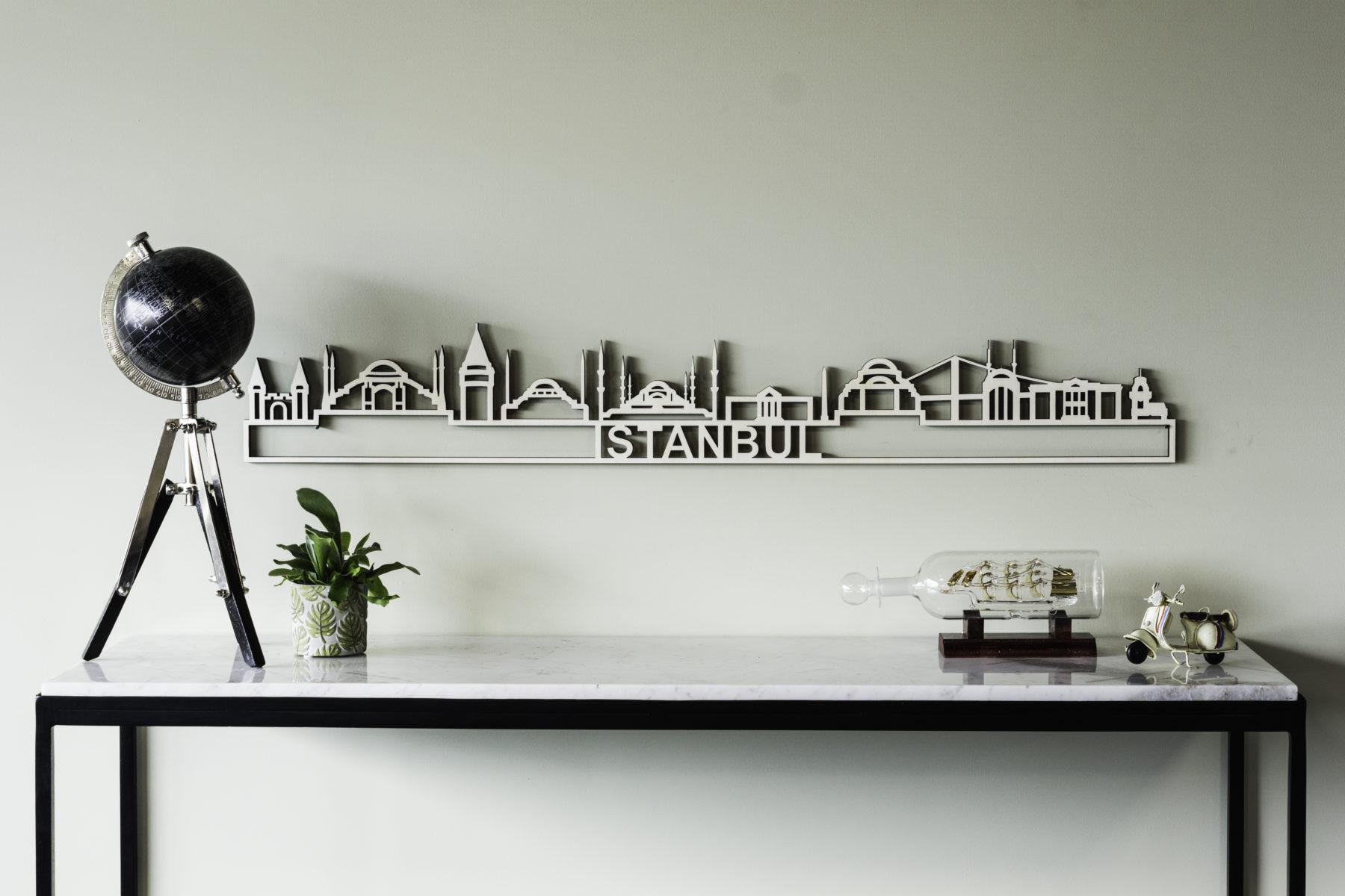 Istanbyl skyline hout