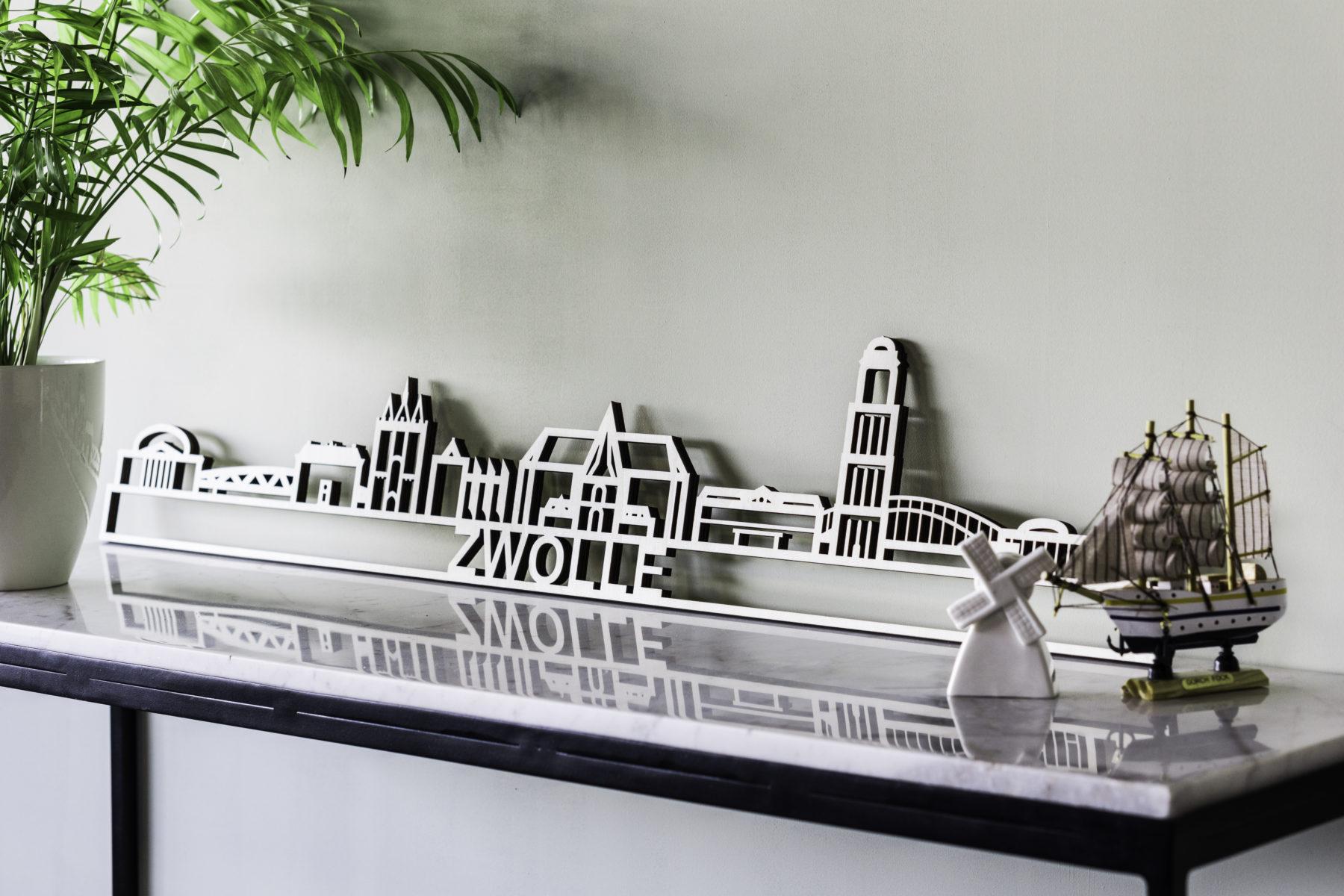 Houten skyline Zwolle populieren
