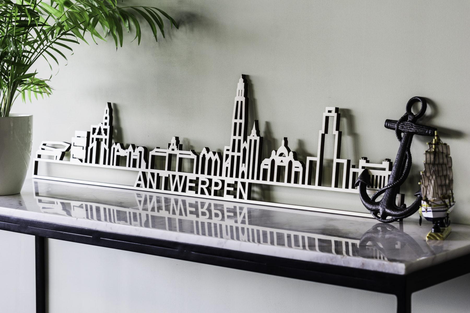 Houten skyline Antwerpen