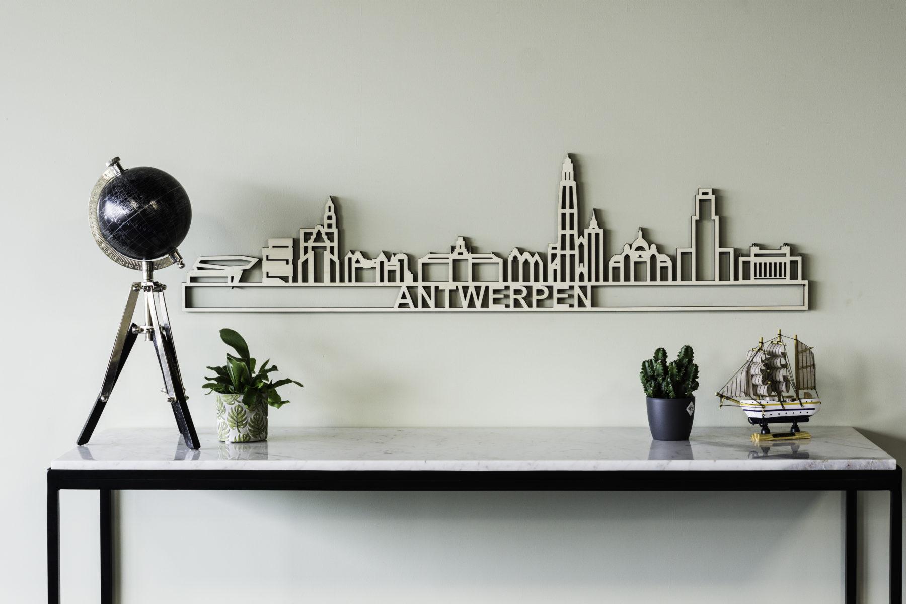 Antwerpen skyline hout
