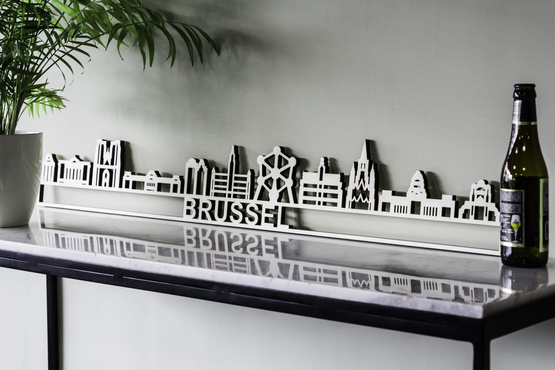 Skyline Brussel hout