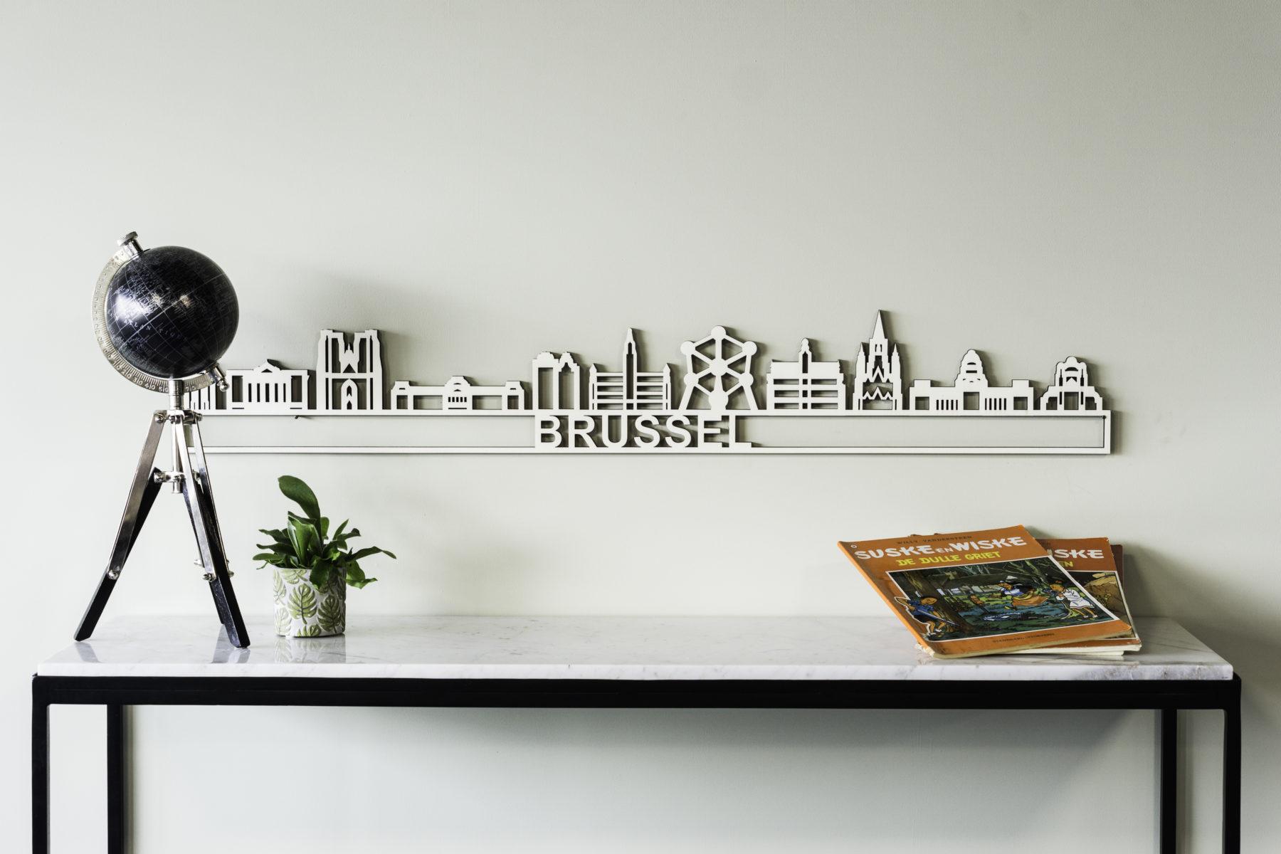 Houten skyline Brussel