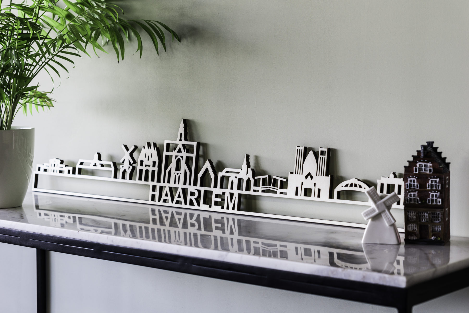Skyline Haarlem hout