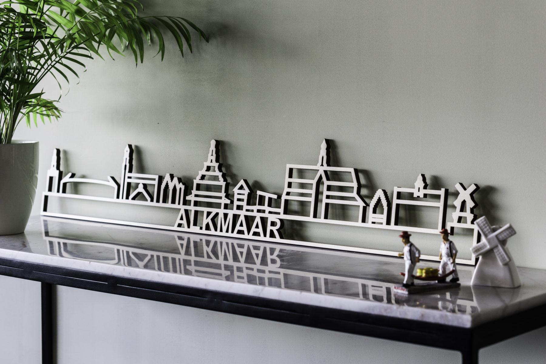 skyline Alkmaar hout