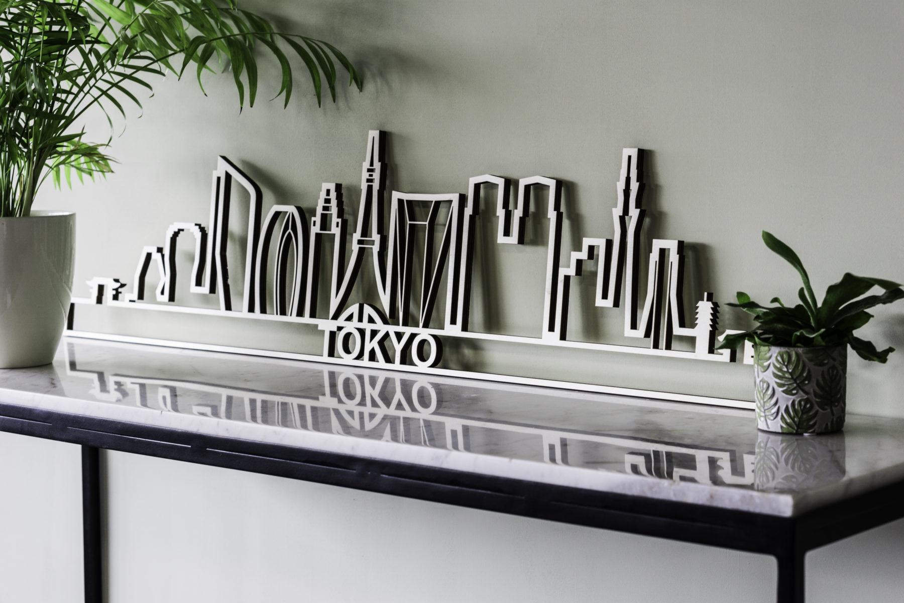Skyline Tokyo hout