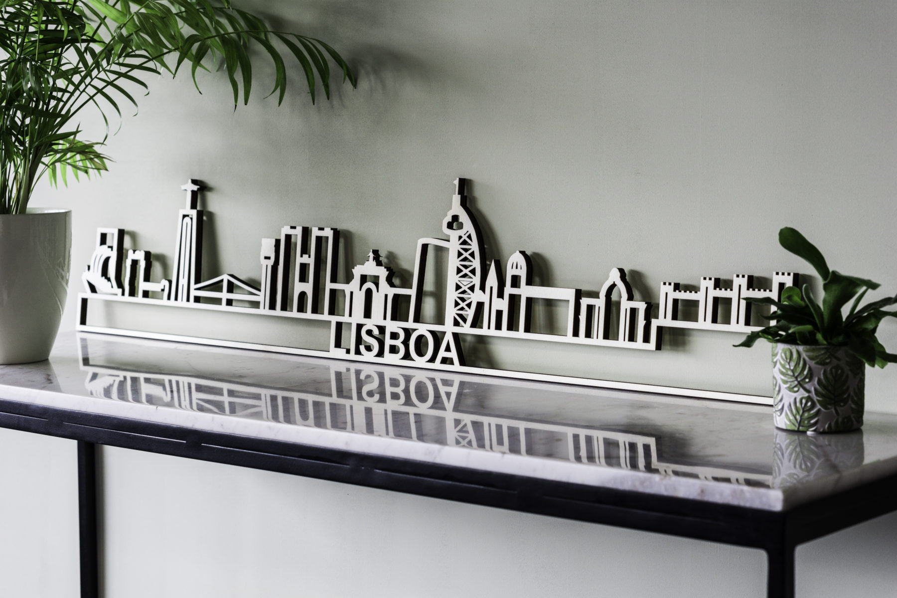 Skyline Lisboa hout