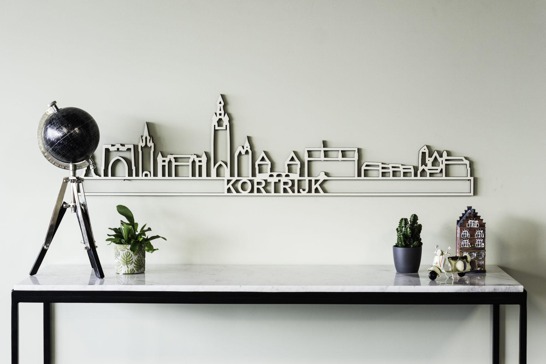 Houten skyline Kortrijk