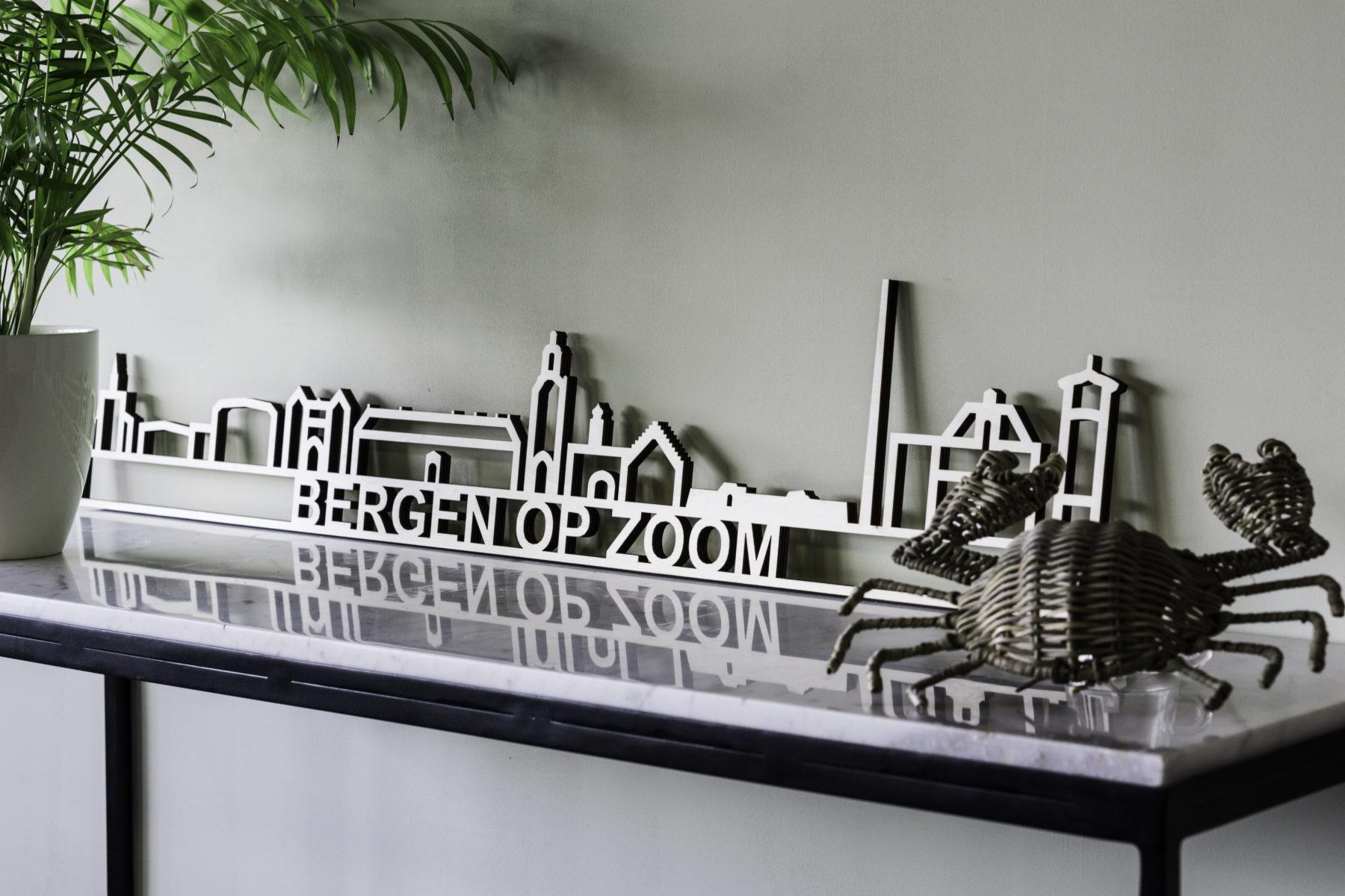 Houten skyline Bergen op Zoom