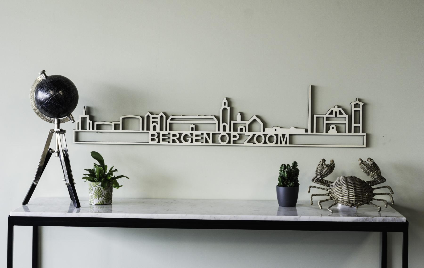 Skyline Bergen op Zoom hout