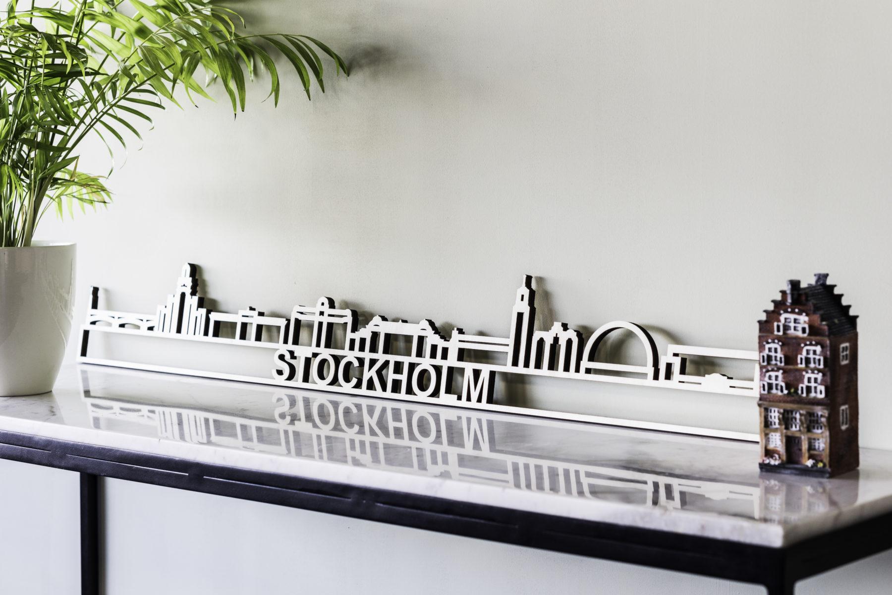 Skyline Stockholm hout