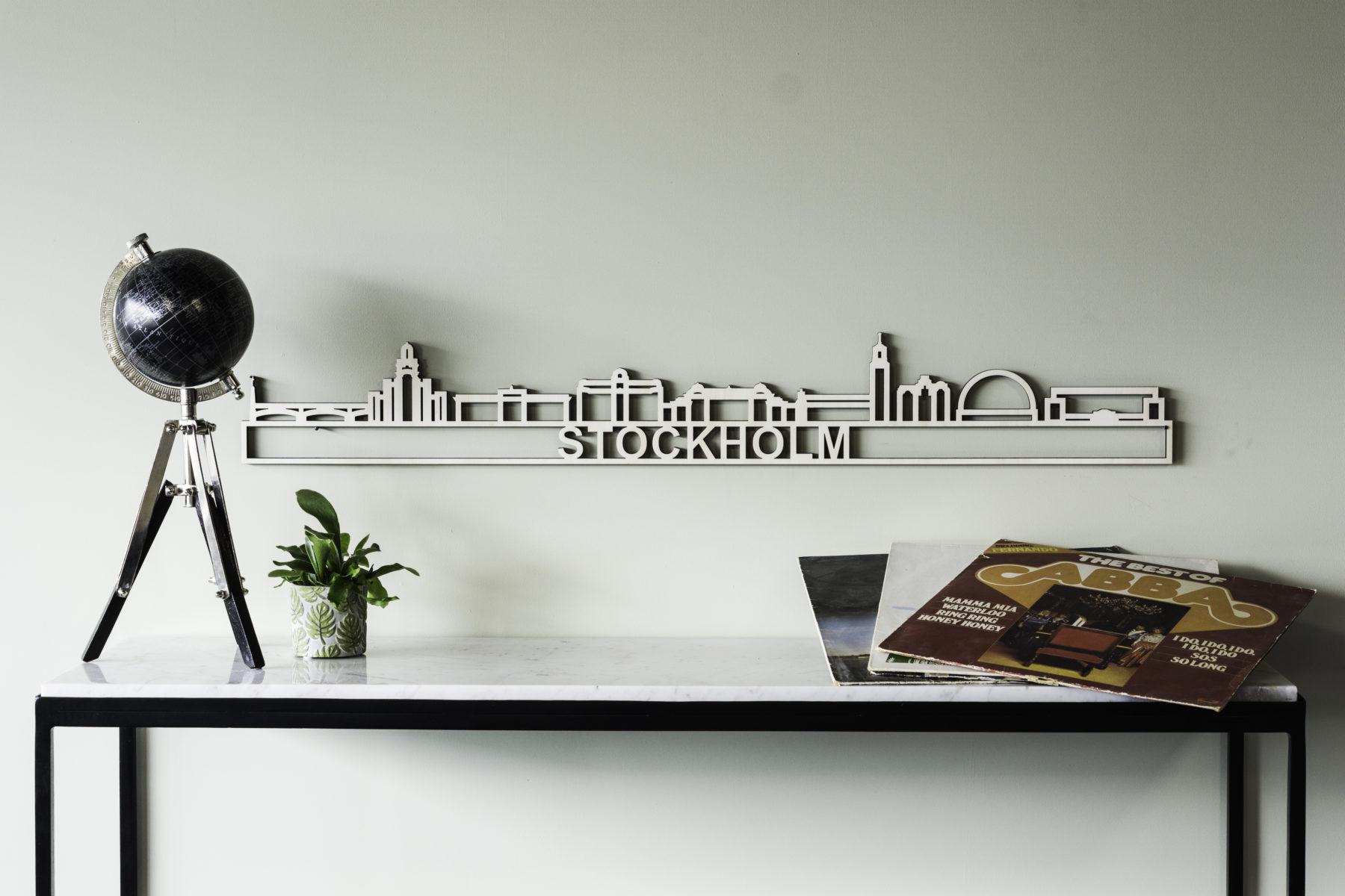 Houten skyline Stockholm