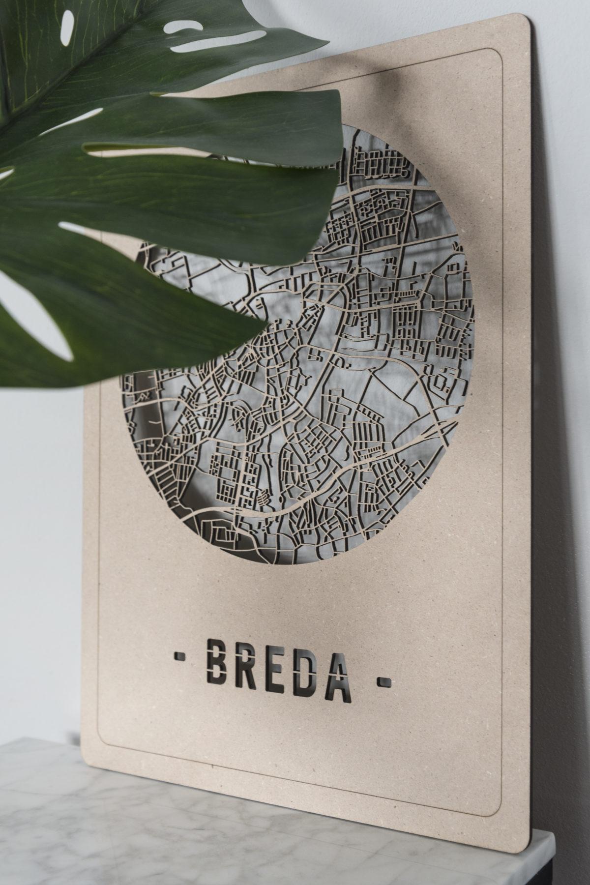 Stadskaart Breda hout