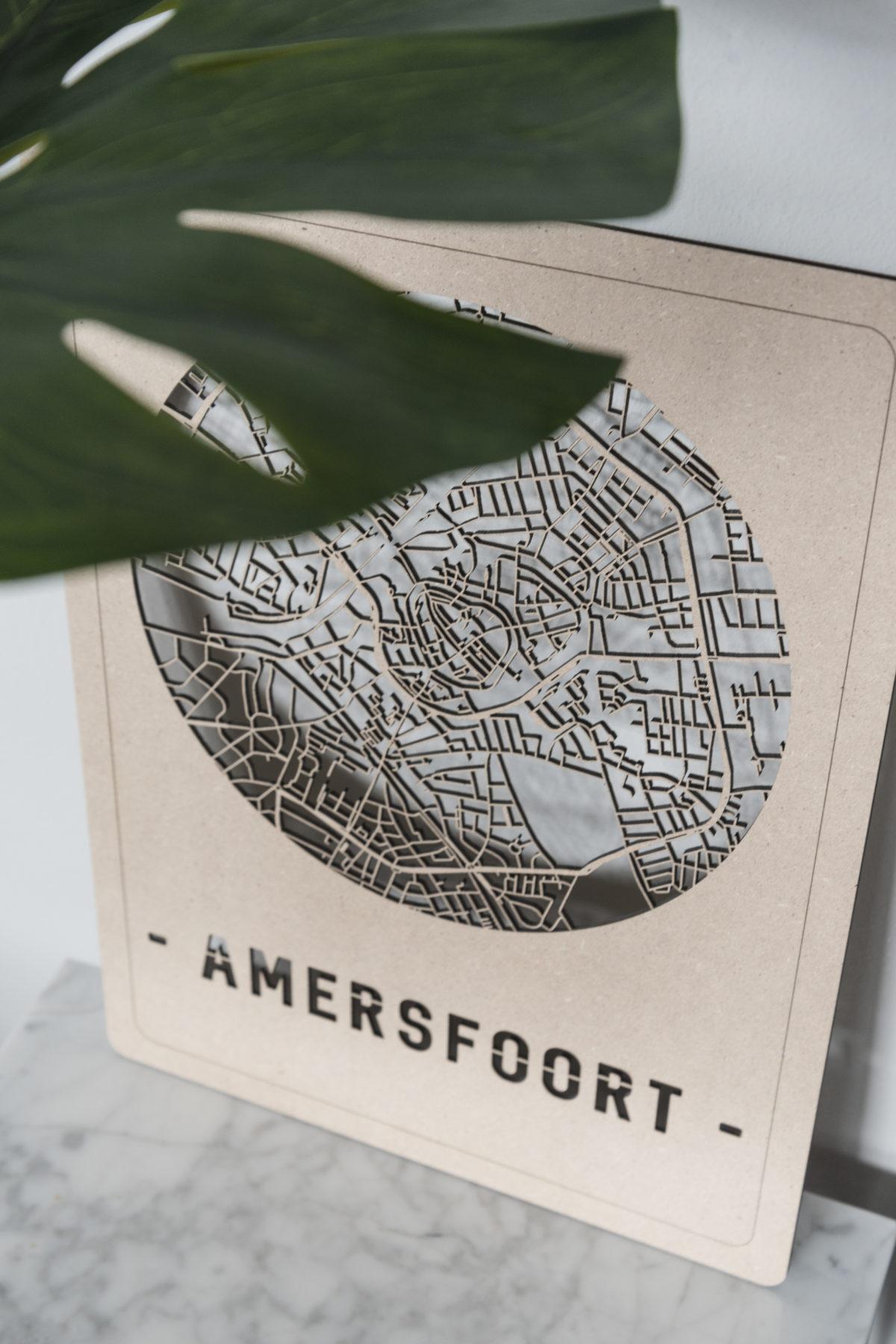 Stadskaart Amersfoort hout