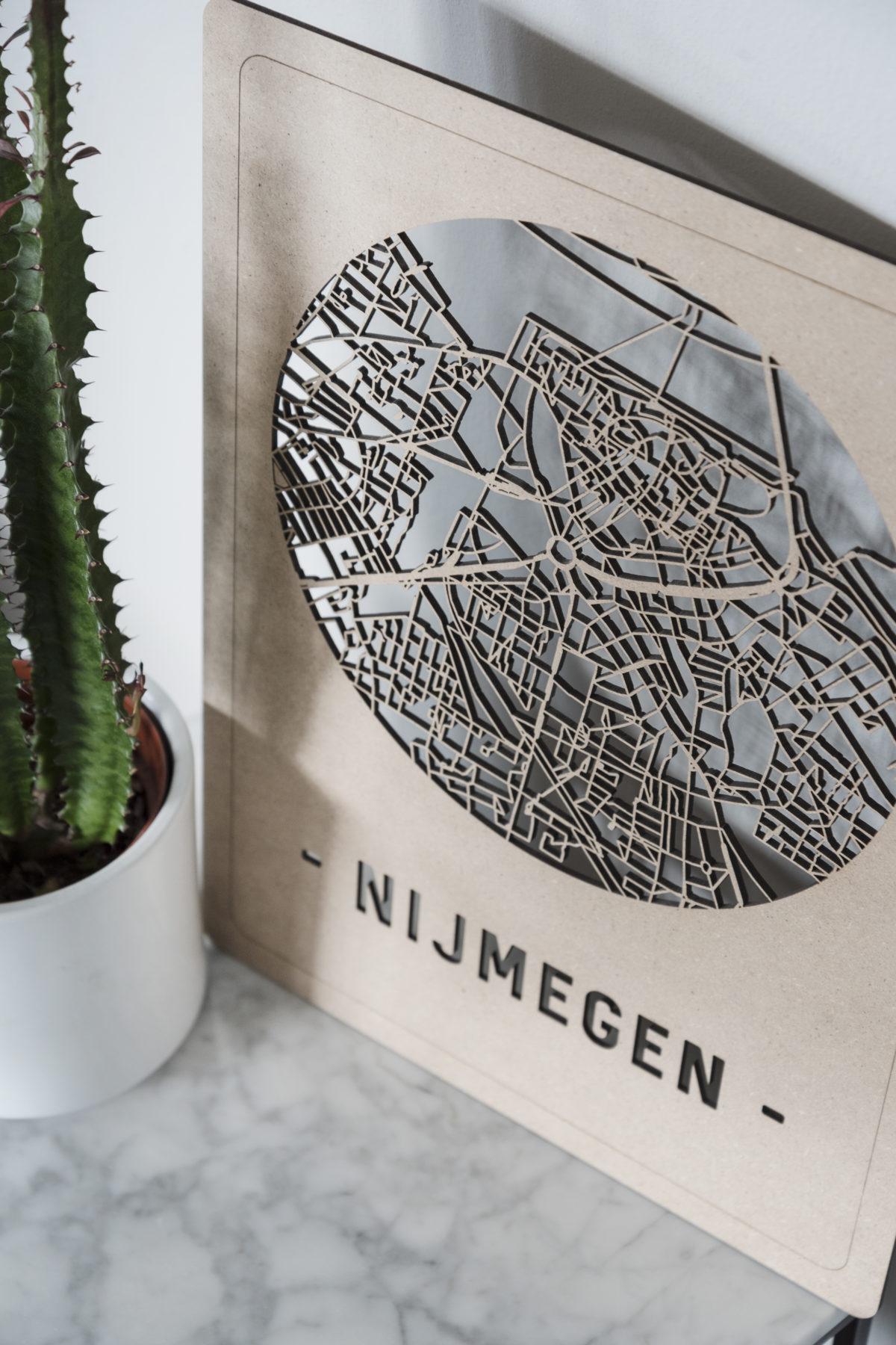 Stadskaart Nijmegen hout