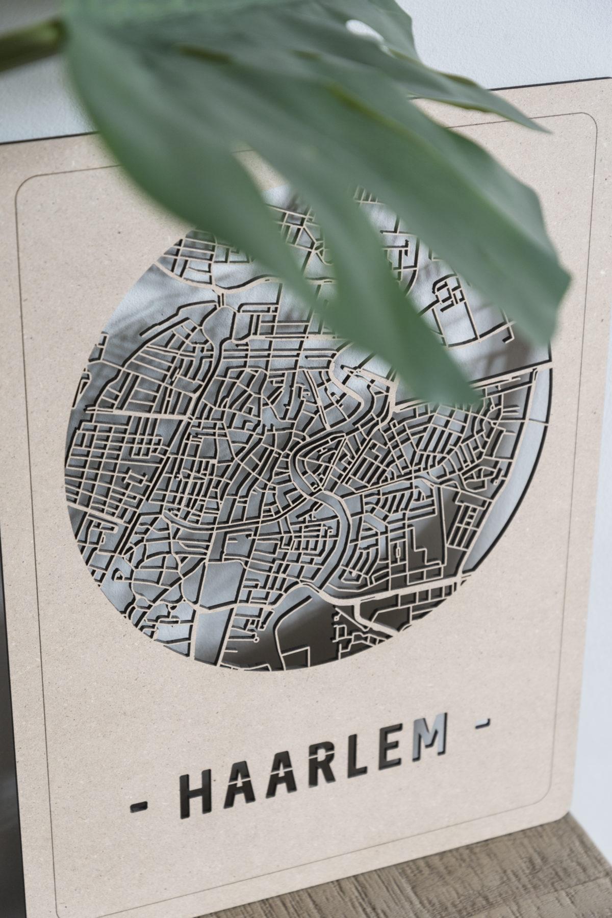 Stadskaart Haarlem hout