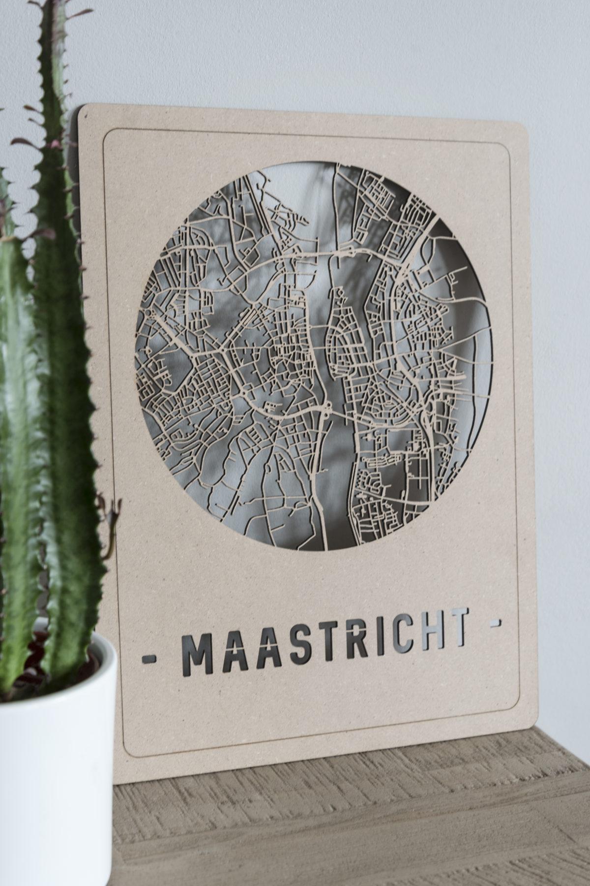 Houten stadskaart Maastricht
