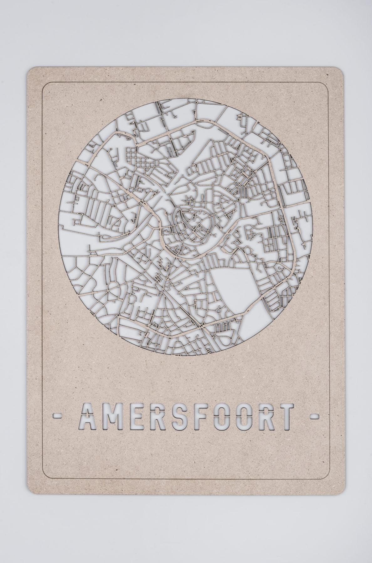 Amersfoort stadskaart hout