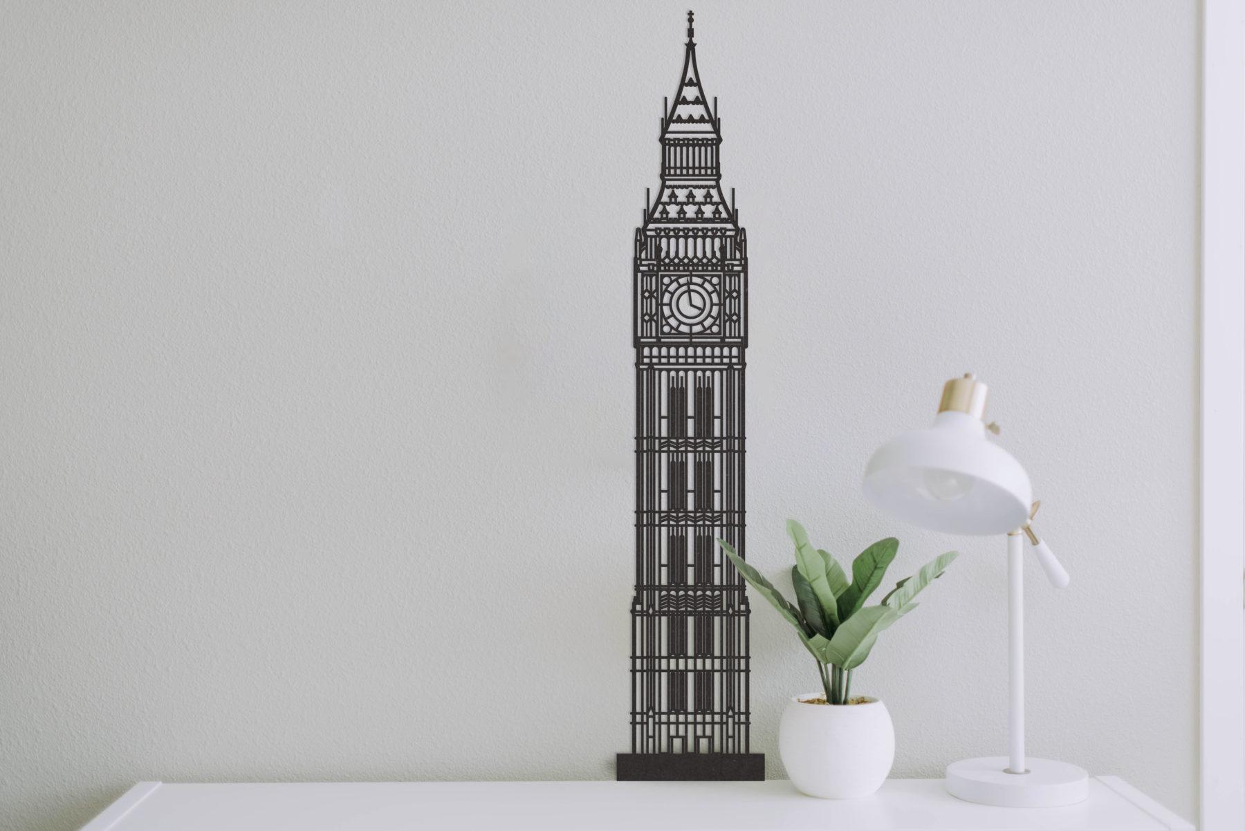 Big Ben Londen zwart hout