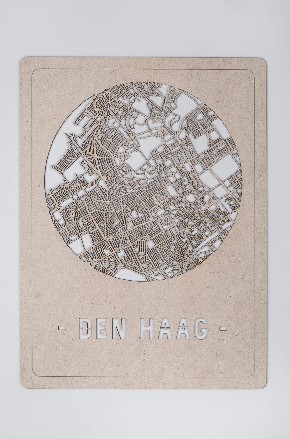 Den Haag stadskaart hout