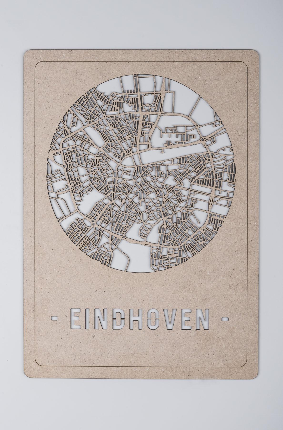 Eindhoven stadskaart hout