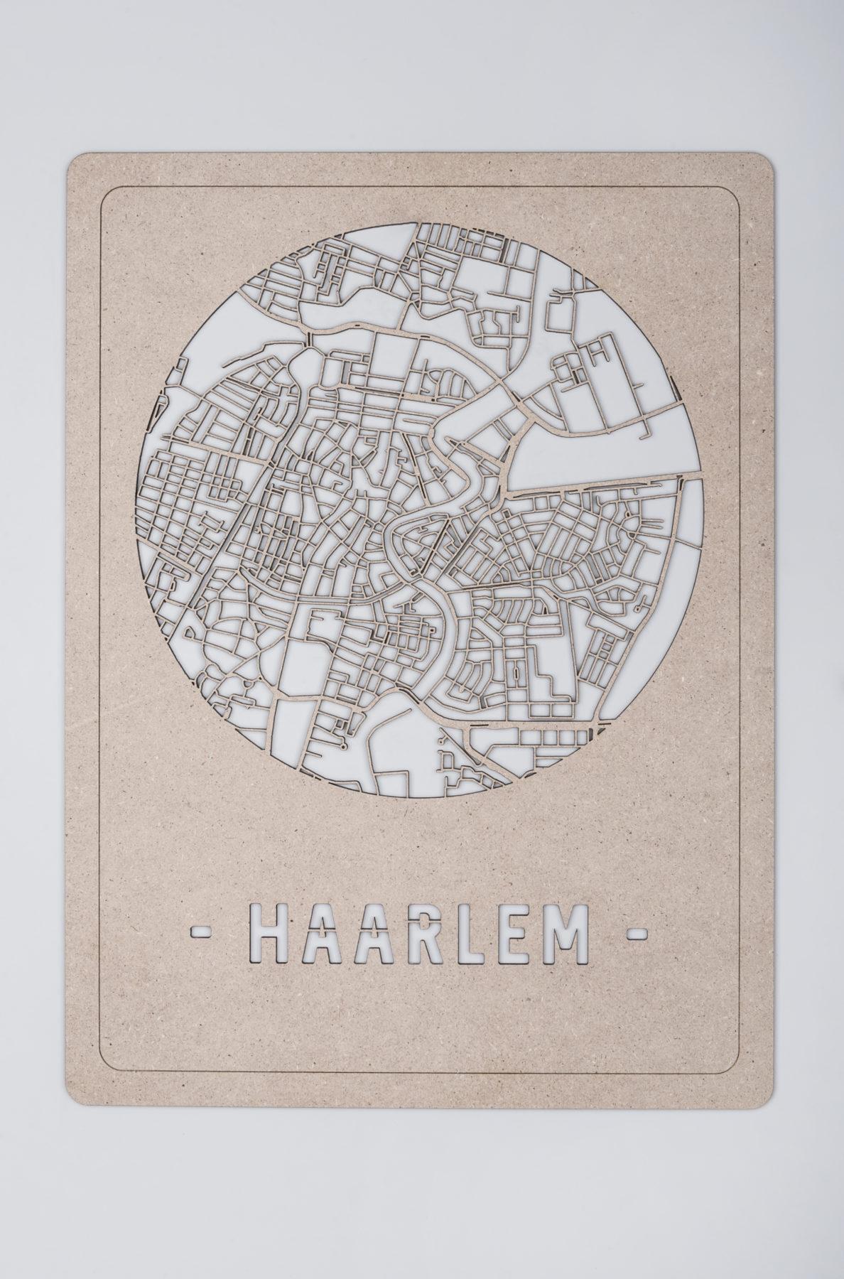 Haarlem stadskaart hout
