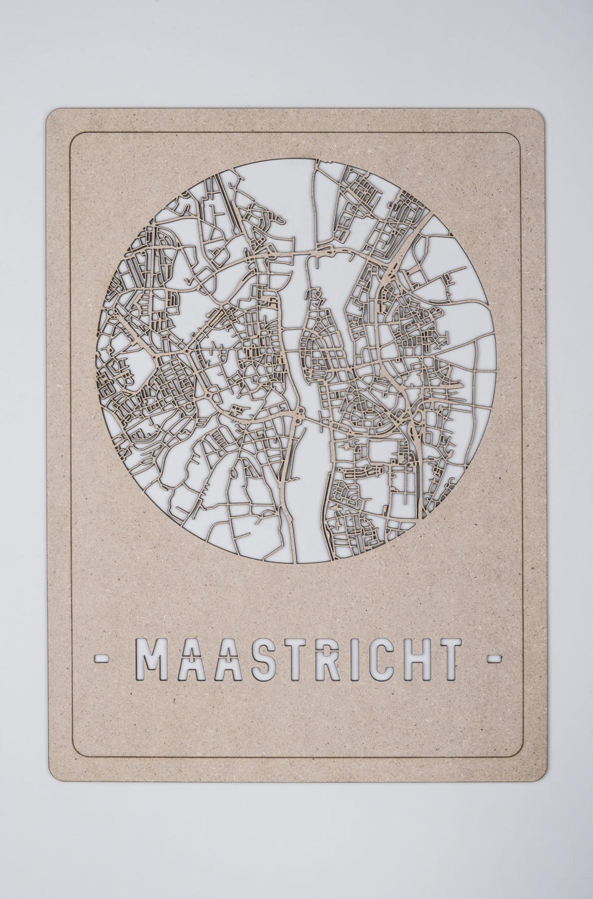 Maastricht stadskaart hout