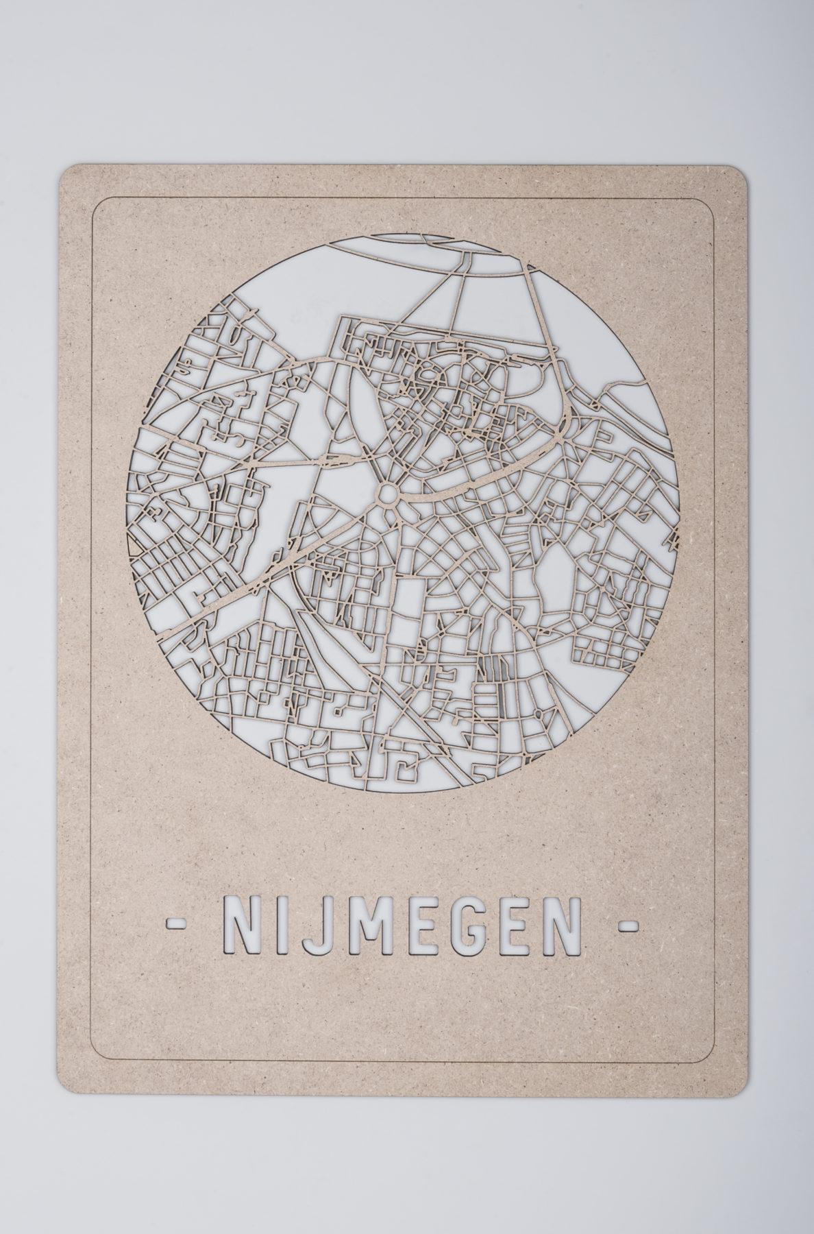 Nijmegen stadskaart hout