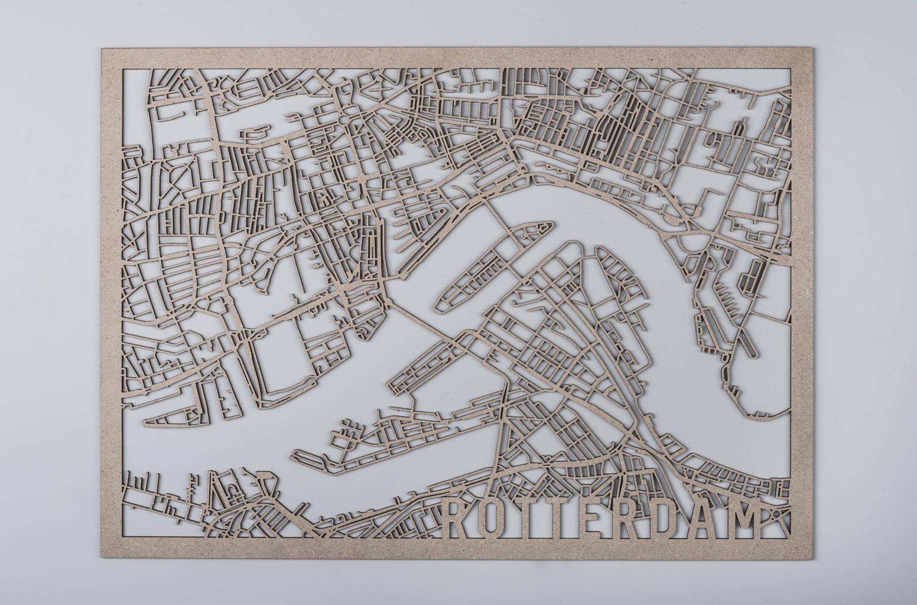 City map Rotterdam hout