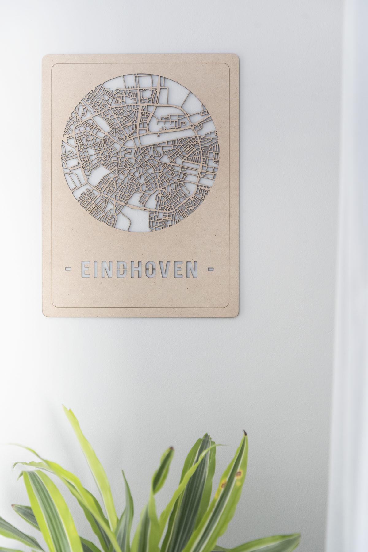 Houten stadskaart Eindhoven