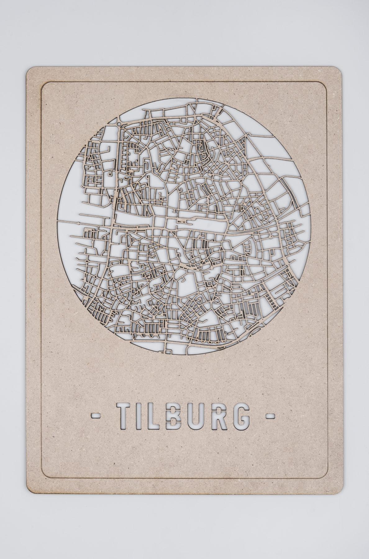 Houten Stadskaart Tilburg