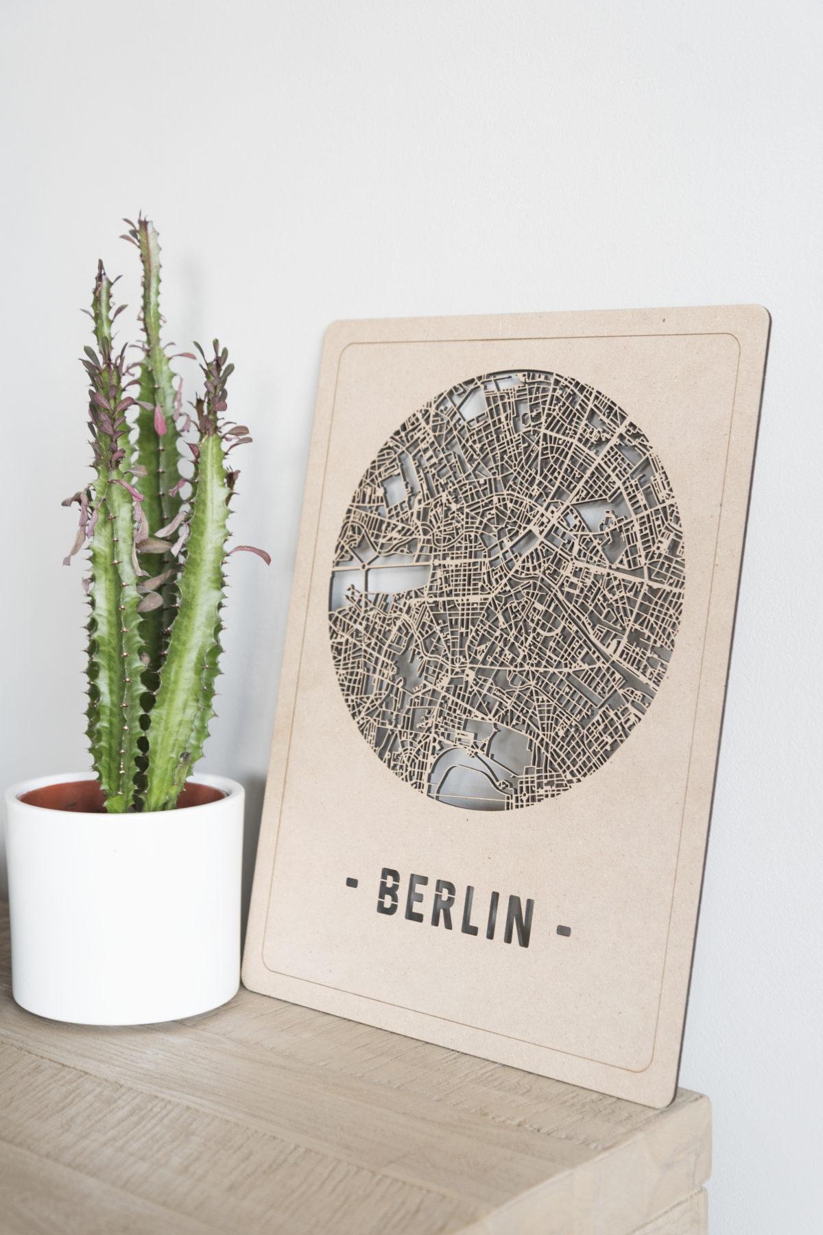 Stadskaart Berlin hout