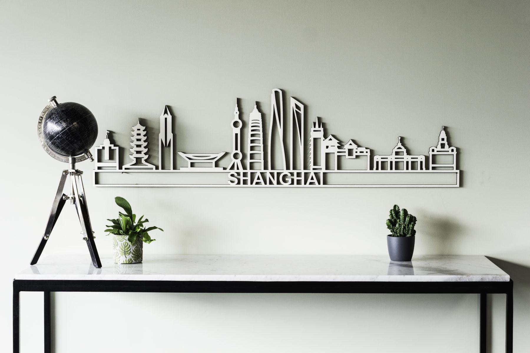 Houten skyline Shanghai