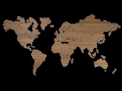 Bamboe wereldkaart