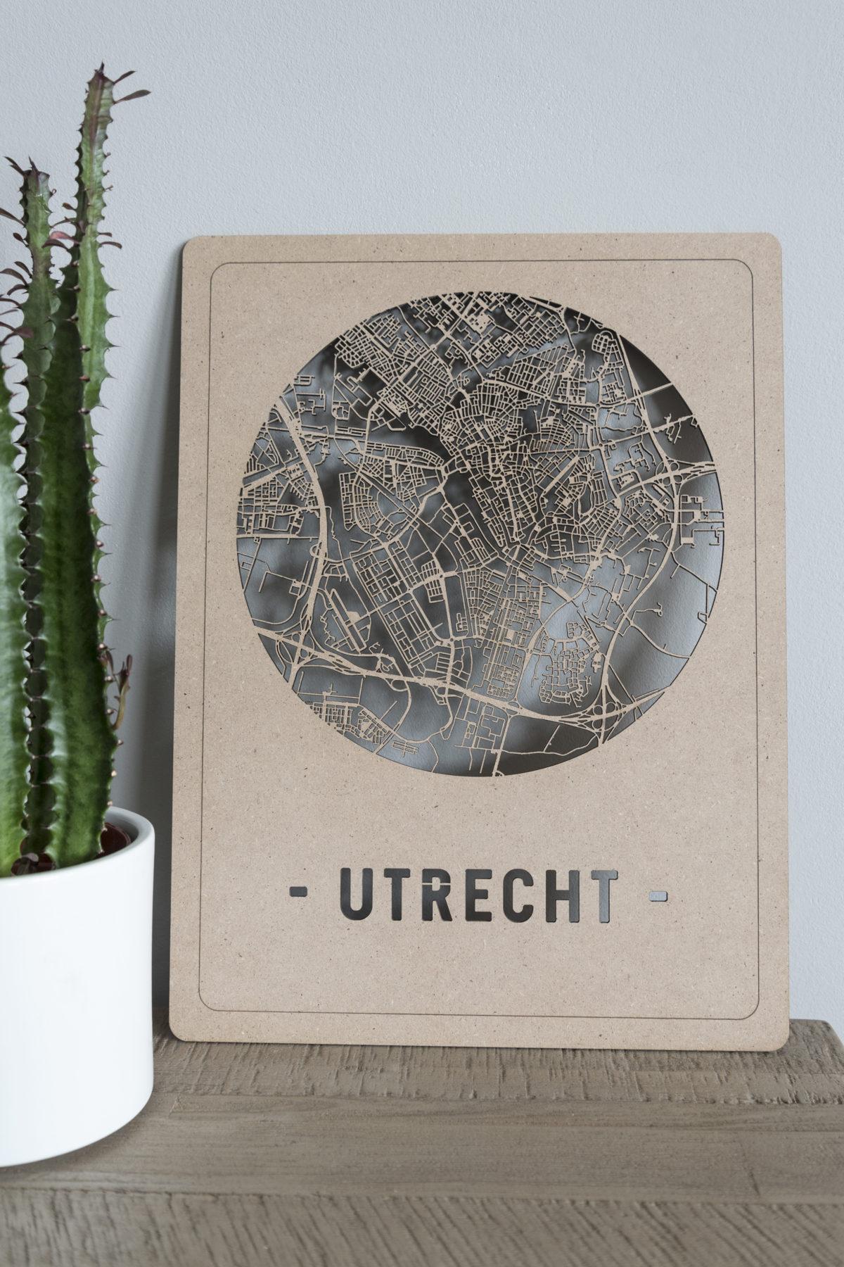 Stadskaart Utrecht hout