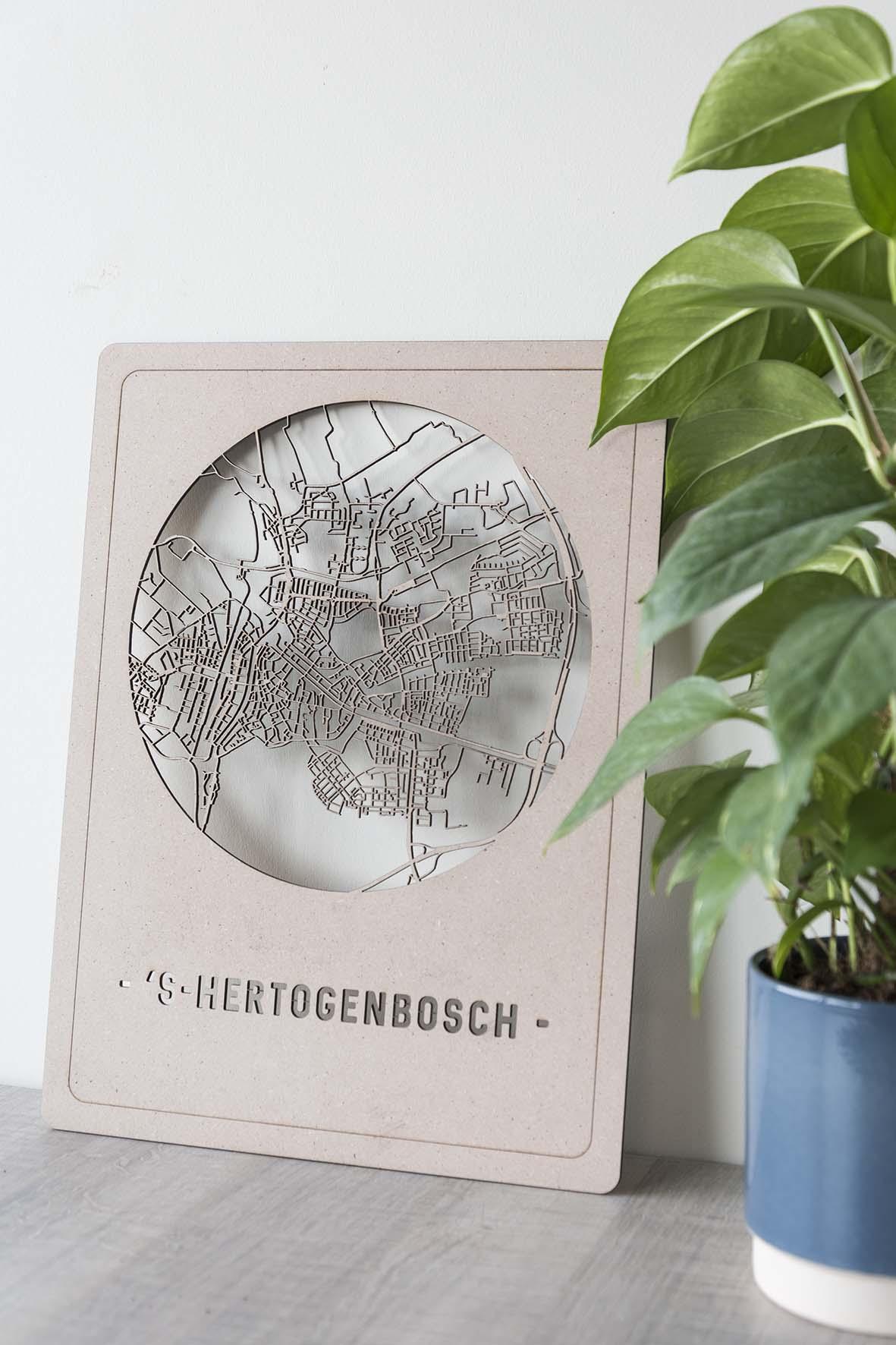 Stadskaart 's-Hertogenbosch hout