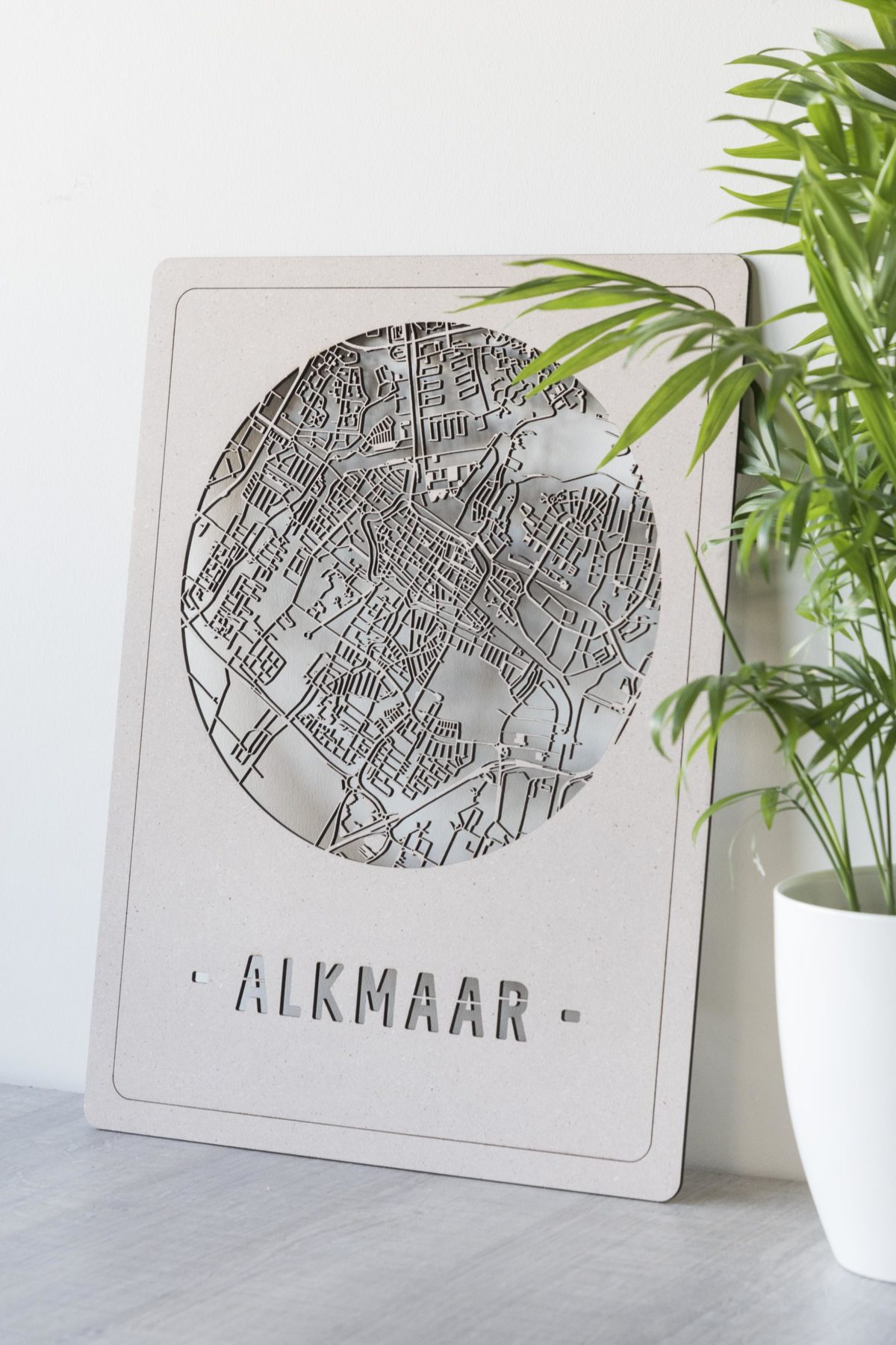 stadskaart Alkmaar hout