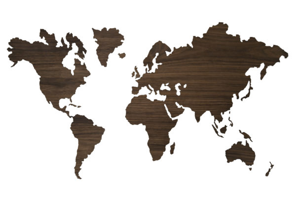 Sticky worldmap noten