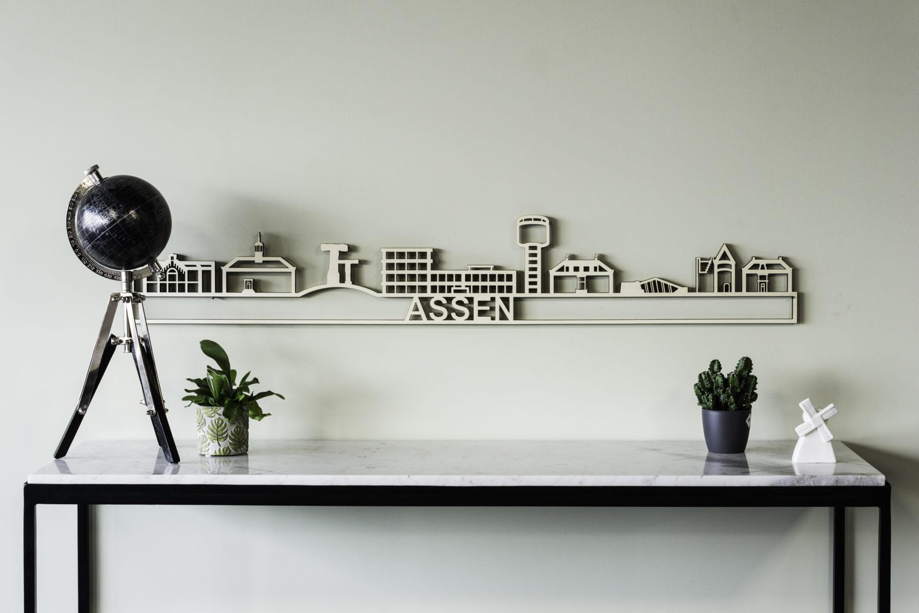 Houten skyline Assen