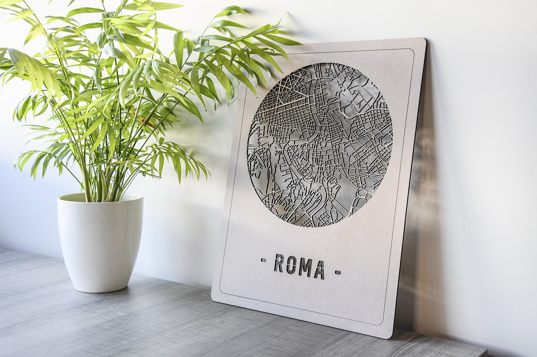 Stadskaart Roma hout
