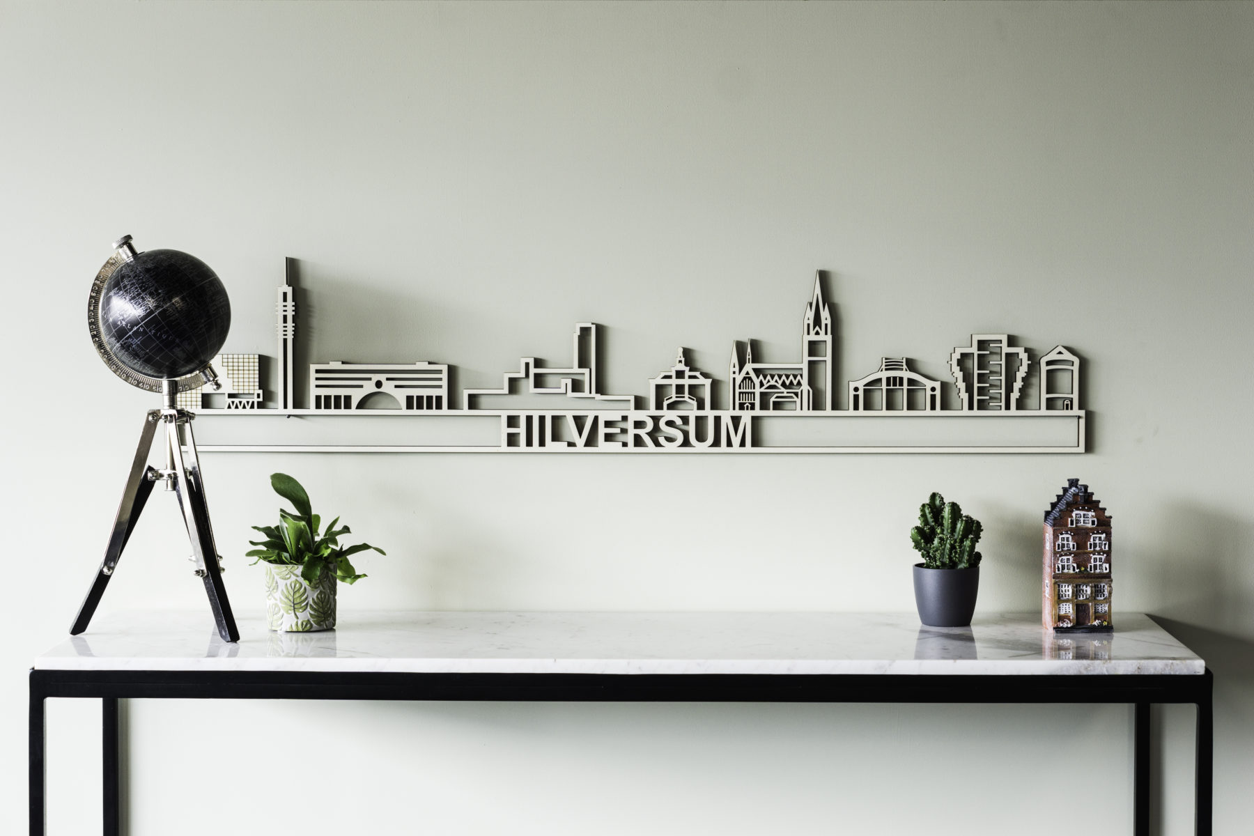 Houten skyline Hilversum