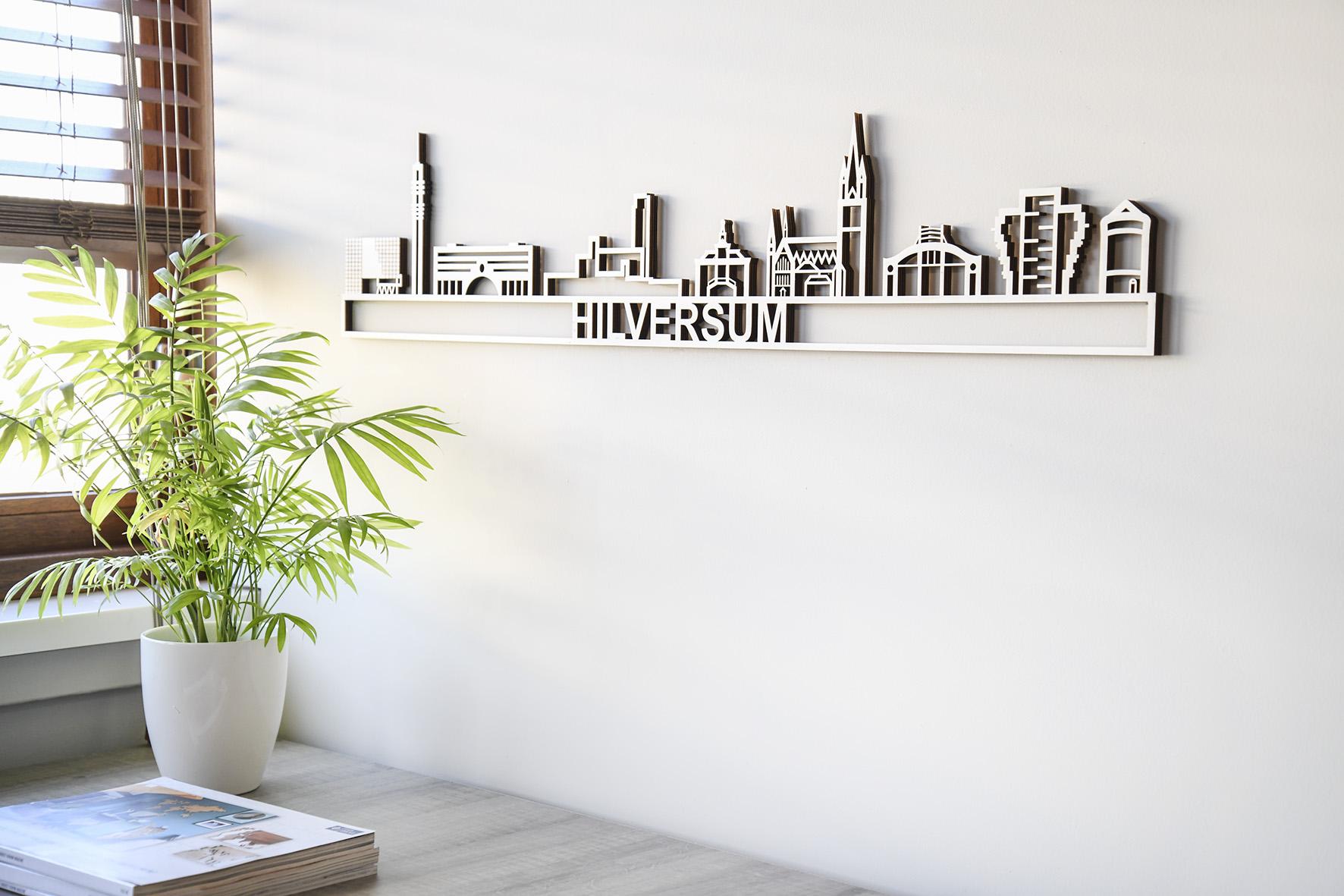 Hilversum skyline hout